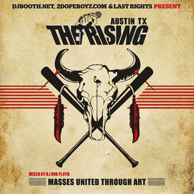 The Rising Austin TX Mixtape Front Cover