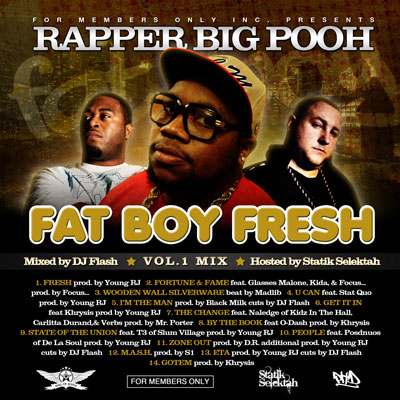 Rapper Big Pooh - FatBoyFresh Vol. 1 Mix Cover