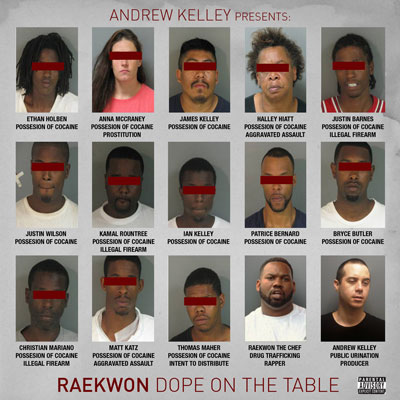 Andrew Kelley Presents: Raekwon - Dope on the Table Album Cover