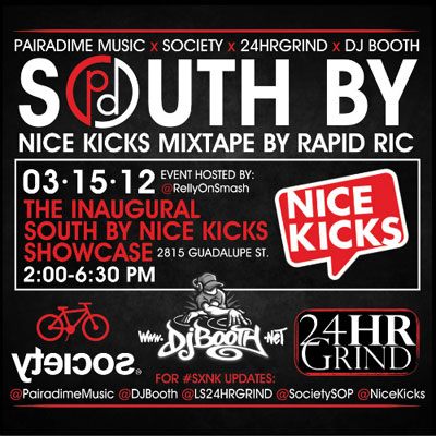 South By Nice Kicks 2012 MIxtape Front Cover