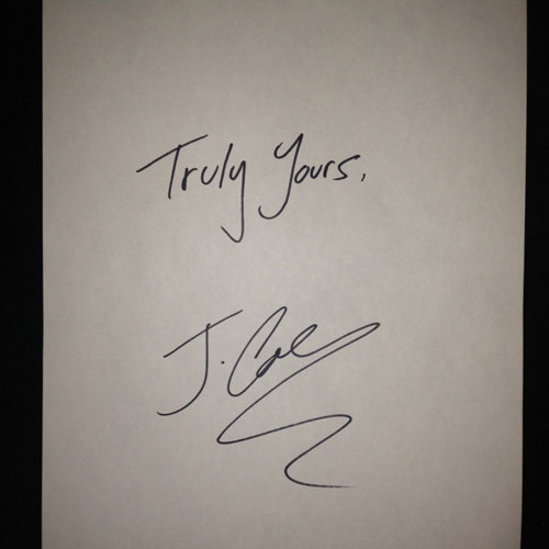 J. Cole - Truly Yours EP Cover