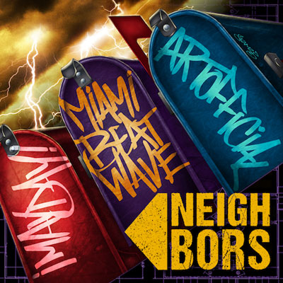 Miami Beat Wave, ¡MAYDAY! & ArtOfficial - Neighbors Album Cover