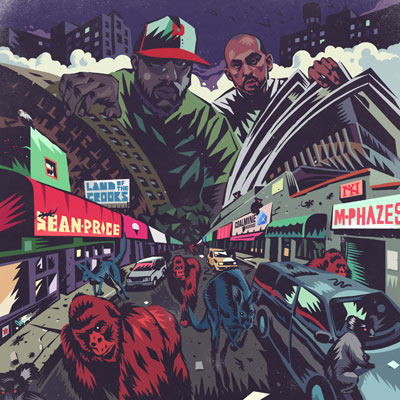 Sean Price & M-Phazes - Land of the Crooks EP Album Cover