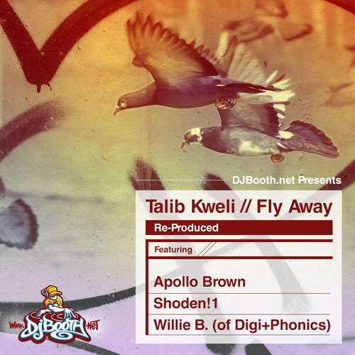 Talib Kweli - Fly Away (Re-Produced) EP Cover