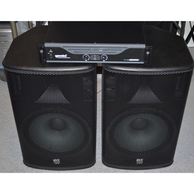 Gemini GVX-15 Speakers & XP-6000 Amplifier