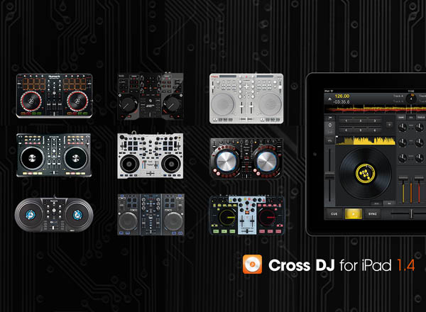 Cross DJ for iPad MIDI Controller Support