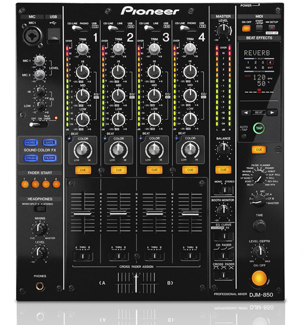 Pioneer DJM-850 Traktor Scratch Certified Mixer