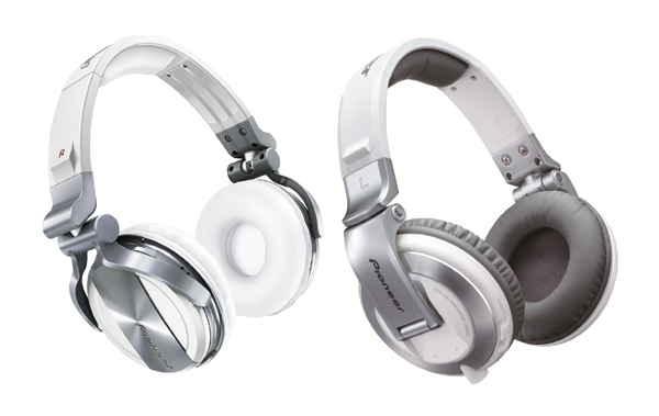 Pioneer HDJ-1500 & HDJ-2000 Headphones in White