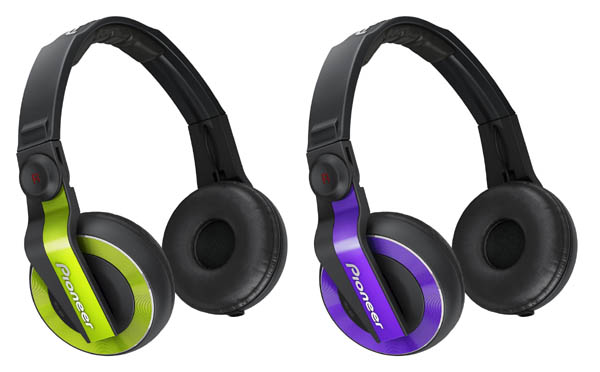 Pioneer HDJ-500 Headphones Now in Green & Violet