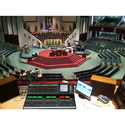 Allen & Heath iLive Mixing Console goes to Church!