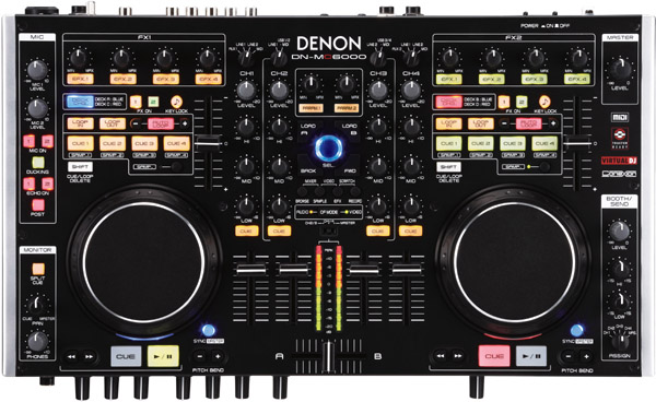 Denon DN-MC6000 With Mixvibes CROSS
