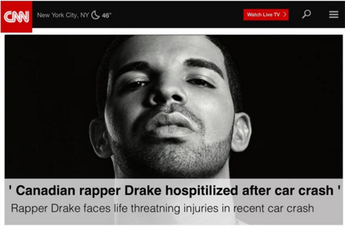 Drake Died In Car Accident