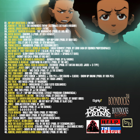 Boondocks Hip-Hop Doctrine 3 Mixtape Back Tracklist