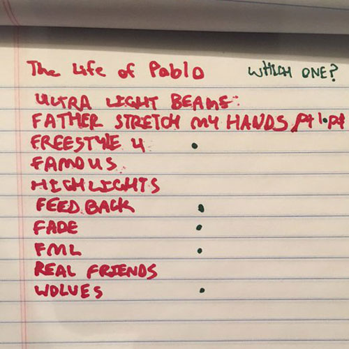 2016-02-10-kanye-west-the-life-of-pablo-tracklisting