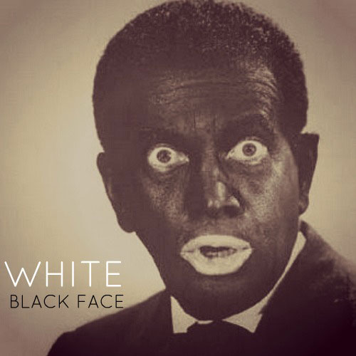 White Black Face Cover