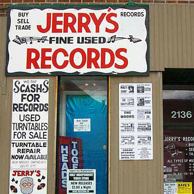 Jerry's Record Store Cover