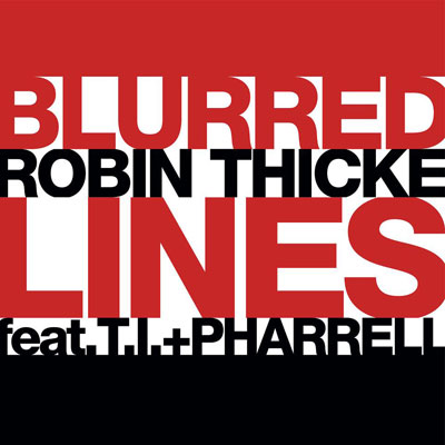 Robin Thicke - Blurred Lines ft. T.I. & Pharrell Williams Artwork