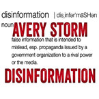 Avery Storm - Disinformation Artwork