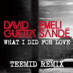 David Guetta ft. Emeli Sandé - What I Did for Love (TEEMID Remix) Artwork