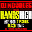 DJ Noodles ft. Ace Hood, Brisco, 2 Pistols, Tom G - Hands High Artwork