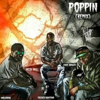 Meek Mill, Chris Brown & French Montana - Poppin' (Remix) Artwork