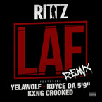 "Rittz - LAF (Remix) ft. Yelawolf, Royce Da 5'9"" & KXNG CROOKED Artwork"