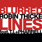 Robin Thicke ft. T.I. & Pharrell Williams - Blurred Lines Artwork