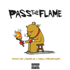 Smoko Ono ft. Jarred A.G., Saba & Sterling - Pass the Flame Artwork