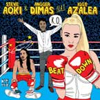 Steve Aoki & Angger Dimas ft. Iggy Azalea - Beat Down Artwork