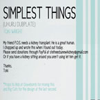 Simplest Things (Uhuru Dubplate) Artwork