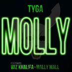 Tyga ft. Wiz Khalifa & Mally Mall - Molly Artwork