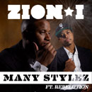 Zion I ft. Rebelution - Many Stylez Artwork